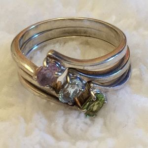Avon Sterling silver 925 stacking rings